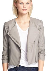 VEDA gray Leather Jacket
