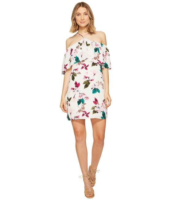 1.STATE Halter Neckline Ruffle Flower Dress Image 1