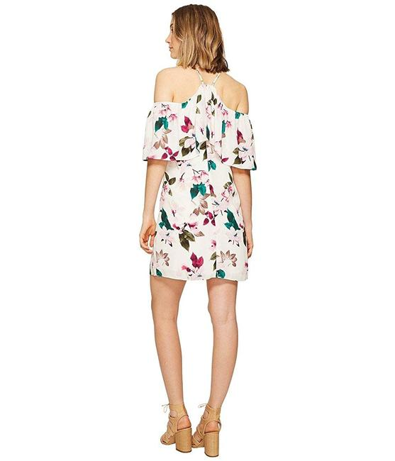 1.STATE Halter Neckline Ruffle Flower Dress Image 2