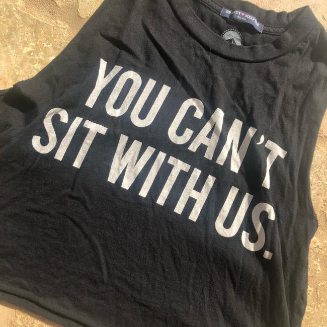 Brandy Melville Top Black/Gray and White Image 2