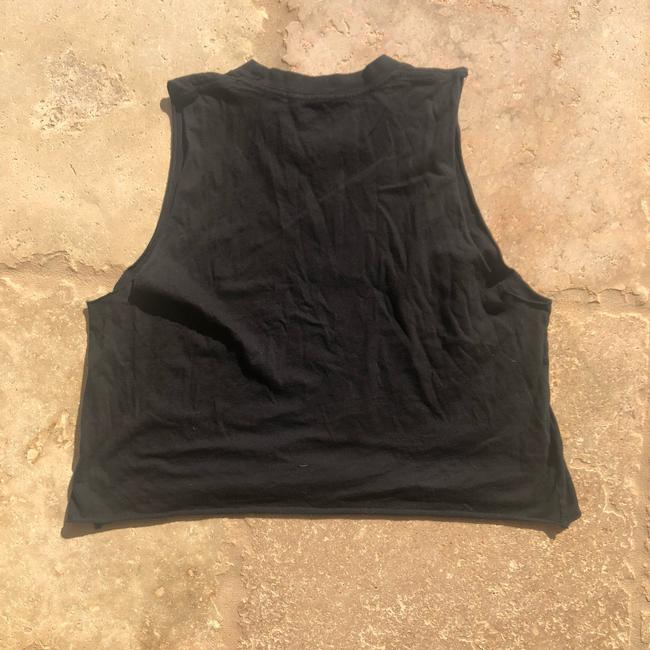 Brandy Melville Top Black/Gray and White Image 3