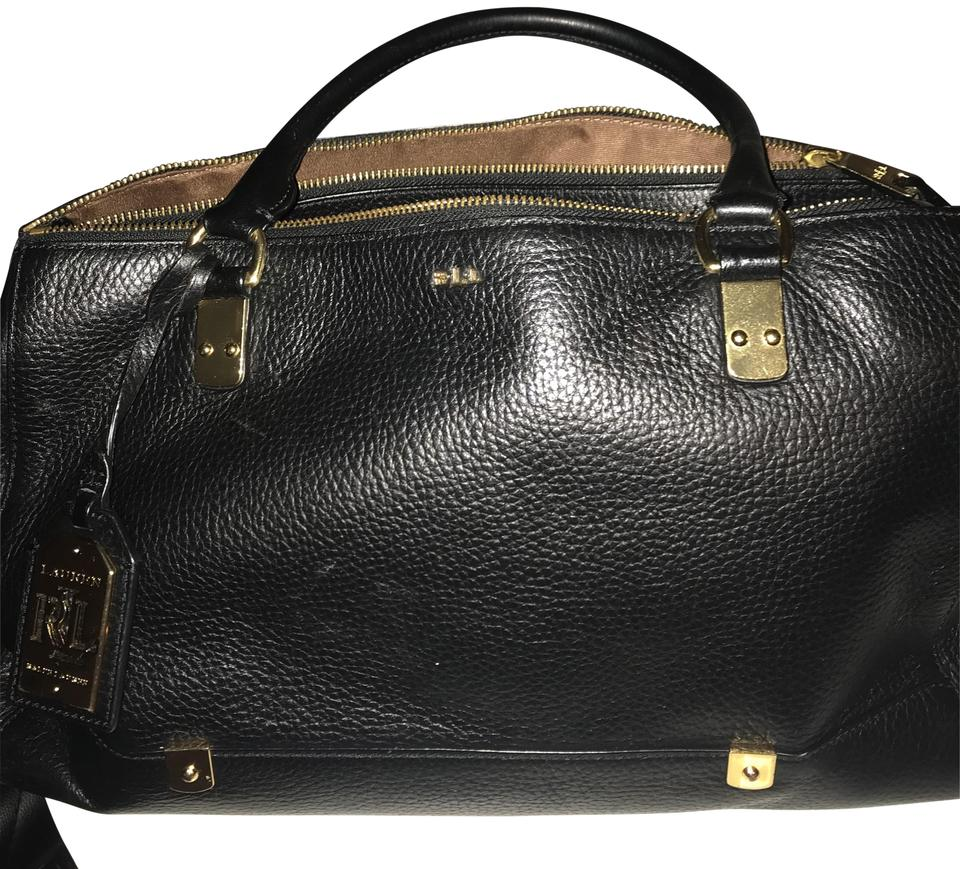Lauren Ralph Lauren Black Genuine Leather Satchel - Tradesy 995fe3a434
