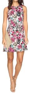 Kensie Garden Cut Out Side Flower Dress