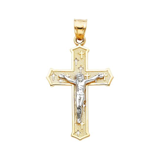 Preload https://img-static.tradesy.com/item/24035820/two-tone-gold-14k-jesus-crucifix-cross-religious-pendant-charm-0-0-540-540.jpg