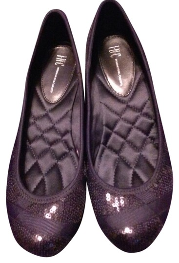 INC International Concepts Sequin Black Flats Image 0