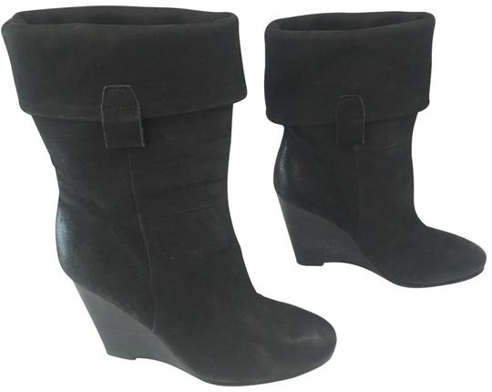 Preload https://img-static.tradesy.com/item/24035893/ash-black-fold-over-suede-wedge-ankle-bootsbooties-size-us-75-regular-m-b-0-1-540-540.jpg