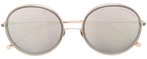 Dita NEW Dita Freebird Grey Mirrored Round Sunglasses 12K Gold $450