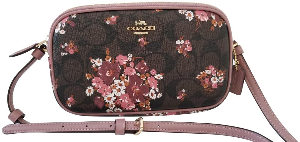 a6db29d2cf Coach Camera New Signature Floral Pattern Limited Edition 31580 Coated  Canvas Cross Body Bag