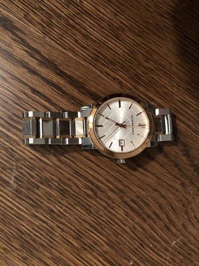 Burberry BU9006 Rose Gold and Silver Unisex Watch Image 1