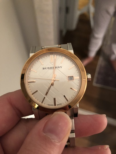 Burberry BU9006 Rose Gold and Silver Unisex Watch Image 2