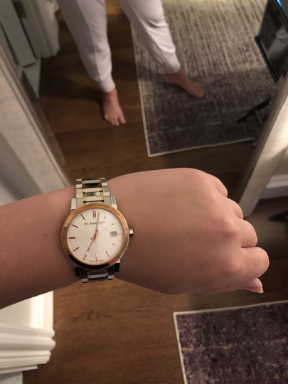 Burberry BU9006 Rose Gold and Silver Unisex Watch Image 3
