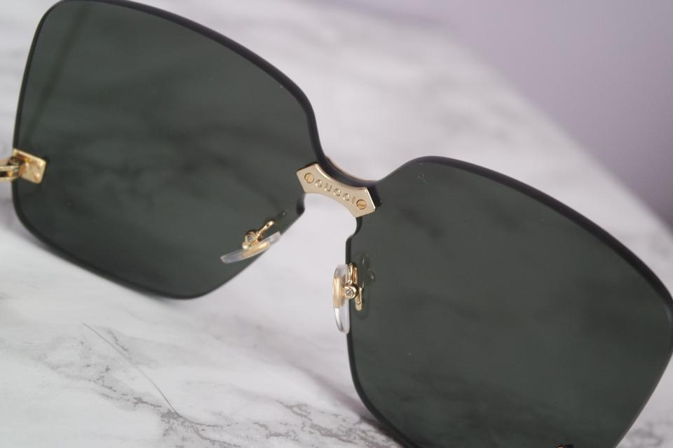 8821ce2baba Gucci NEW Gucci 0352S Black Rimless Oversized Square Pearl Leg Sunglasses  Image 11. 123456789101112