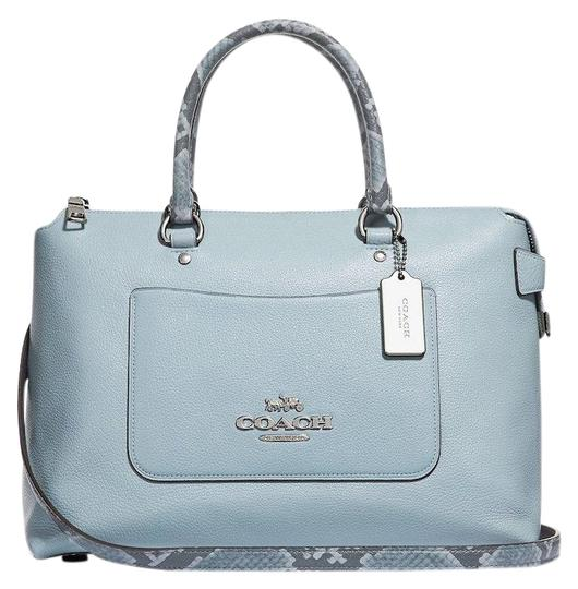 Preload https://img-static.tradesy.com/item/24036198/coach-emma-in-exotic-trim-pale-blue-leather-satchel-0-1-540-540.jpg