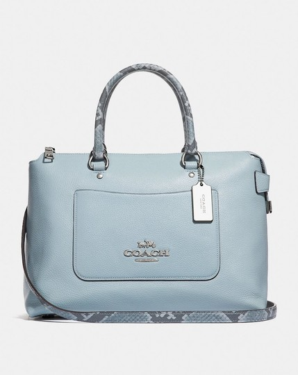 Coach On New With Tags Satchel in Pale Blue Image 1