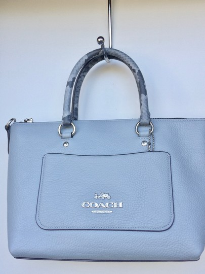 Coach On New With Tags Satchel in Pale Blue Image 4
