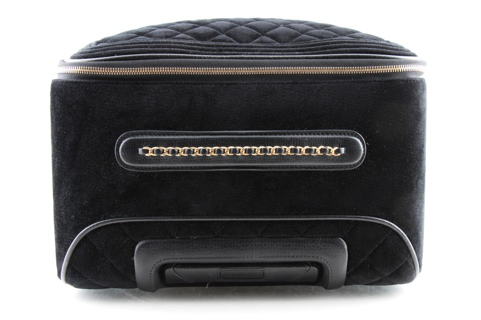 c6ccc3a1c4 Chanel Coco Case Trolley Luggage Black Velvet Weekend/Travel Bag - Tradesy