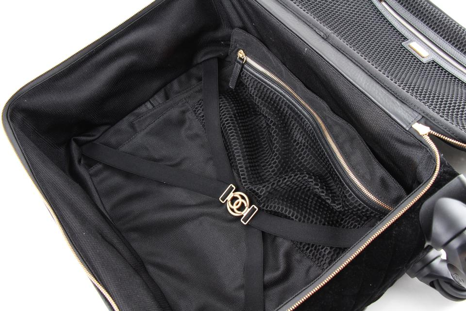 c31a308d9d Chanel Coco Case Trolley Luggage Black Velvet Weekend/Travel Bag ...