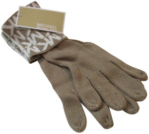 Michael Kors Tan and White MICHAEL KORS GLOVES