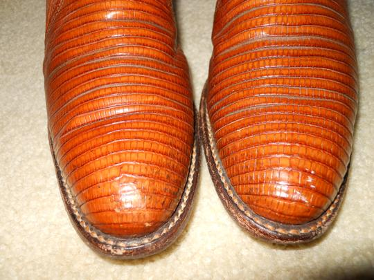 Dan Post Boots Vintage Leather Western Lizard tan Boots Image 4