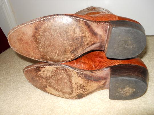 Dan Post Boots Vintage Leather Western Lizard tan Boots Image 8