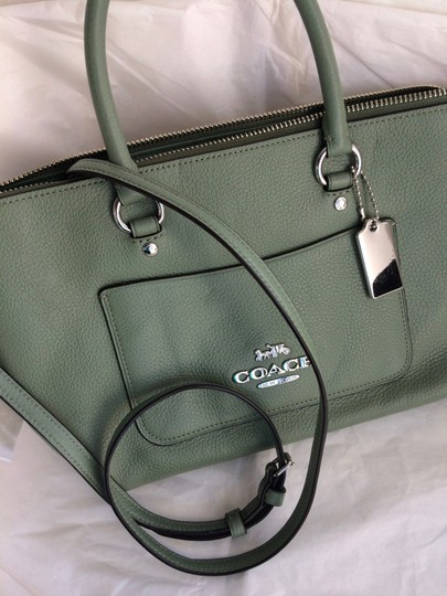 Coach New With Tags Satchel in Clover Image 6