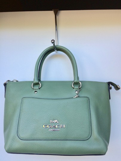 Coach New With Tags Satchel in Clover Image 7