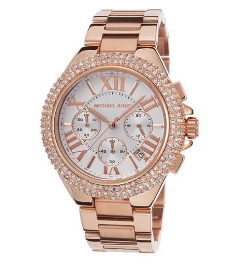 Preload https://img-static.tradesy.com/item/24036372/michael-kors-rose-gold-camille-tone-glitz-chrono-watch-0-1-540-540.jpg