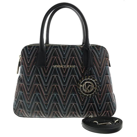 Versace Jeans Collection Satchel in Black/Multicolor Image 1