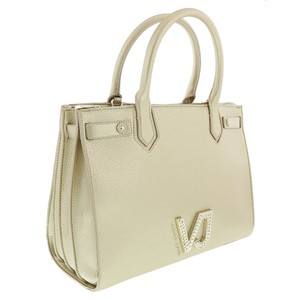 Versace Jeans Collection Satchel in Light Gold