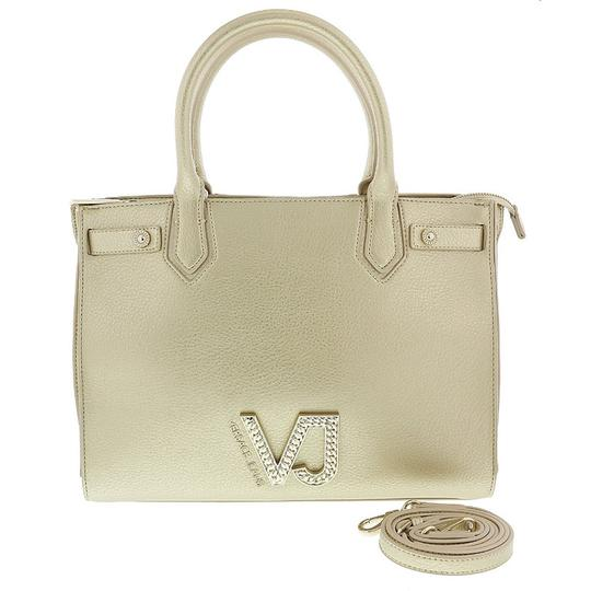 Versace Jeans Collection Satchel in Light Gold Image 1