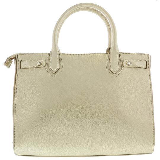 Versace Jeans Collection Satchel in Light Gold Image 3
