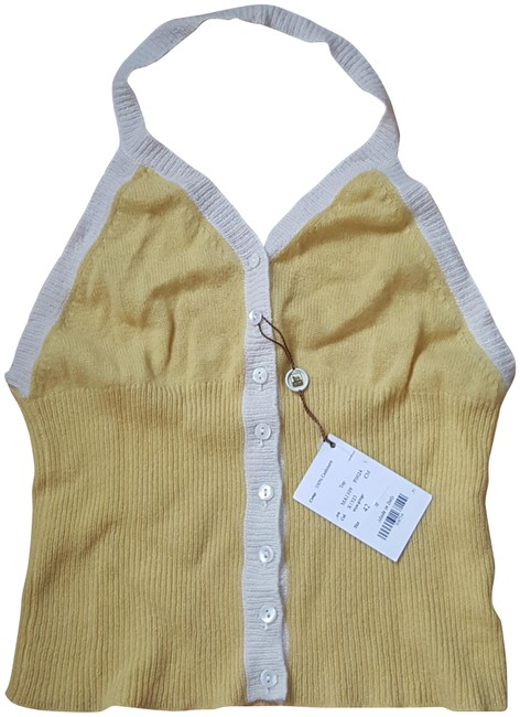 Preload https://img-static.tradesy.com/item/24036483/colombo-yellow-ivory-cashmere-halter-top-size-6-s-0-1-650-650.jpg
