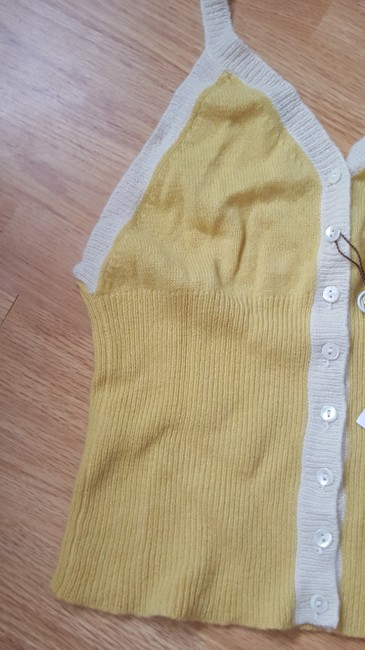 Colombo Casual Yellow, ivory Halter Top Image 1