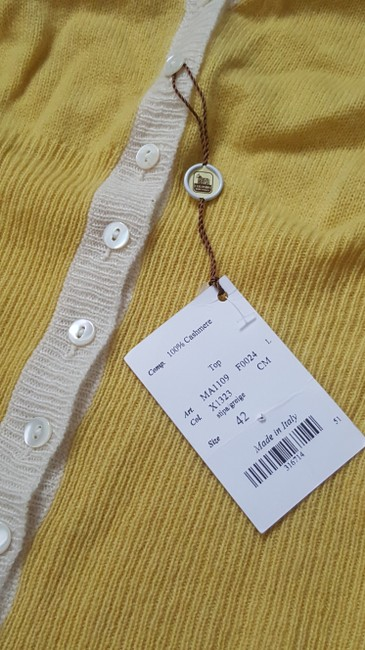 Colombo Casual Yellow, ivory Halter Top Image 2