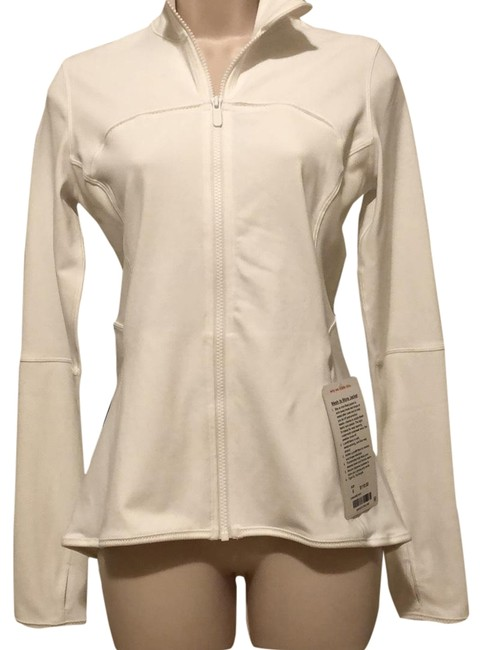 Item - White Mesh Is More Jacket Activewear Top Size 6 (S)