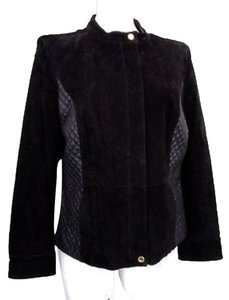Isaac Mizrahi Live! Quilted Suede Leather Jacket