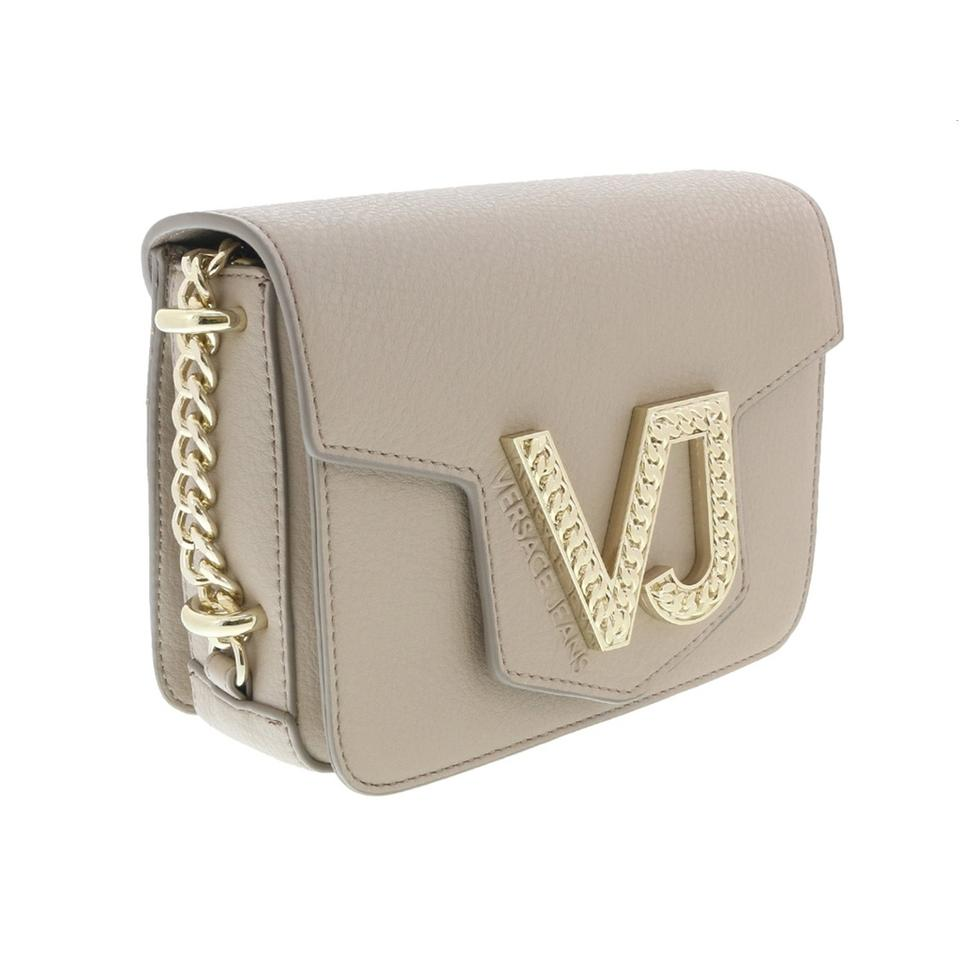 d9661266 Versace Jeans Collection Beige Faux Leather Cross Body Bag
