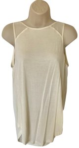 Haute Hippie Waterfall Back Open Back Modal Top Ivory