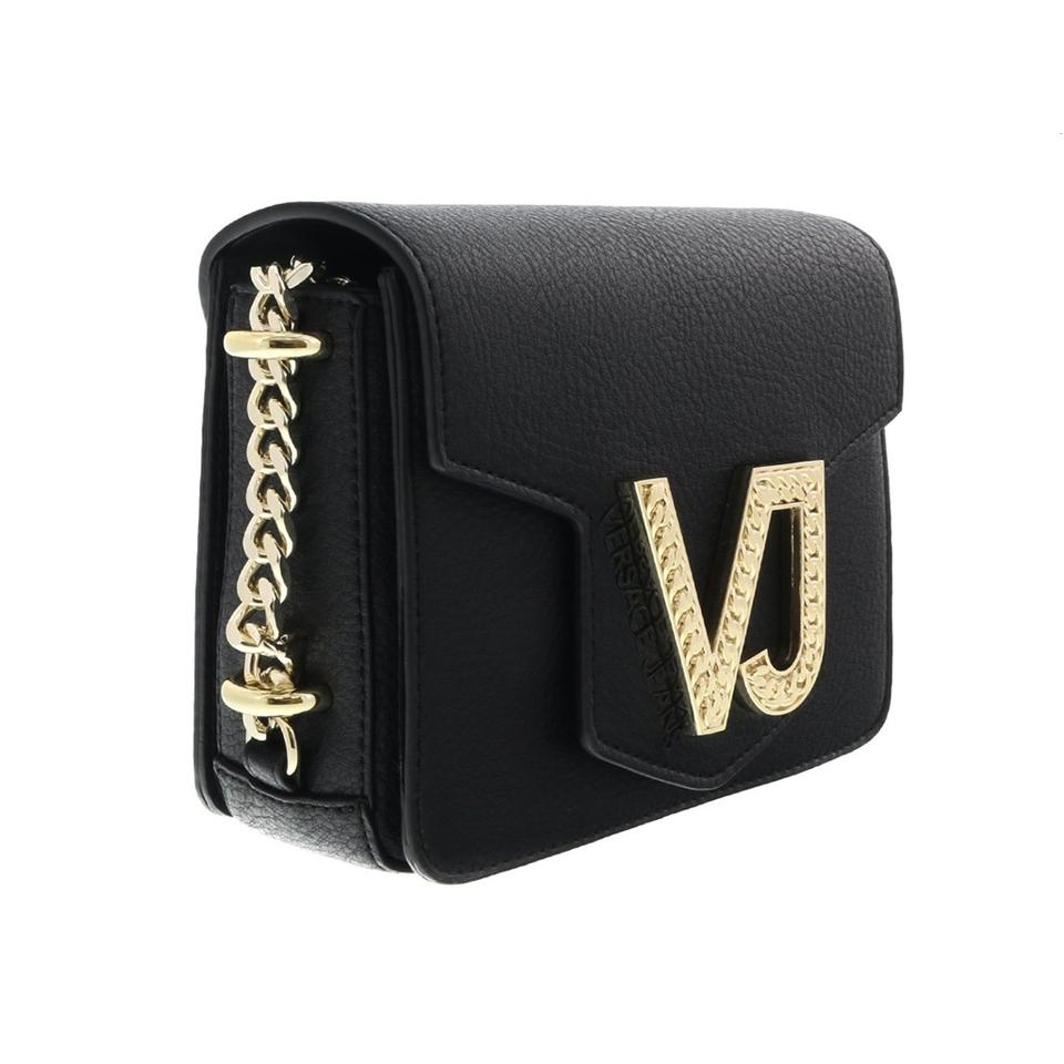 bd2f33d6108d Versace Jeans Collection Black Faux Leather Cross Body Bag - Tradesy