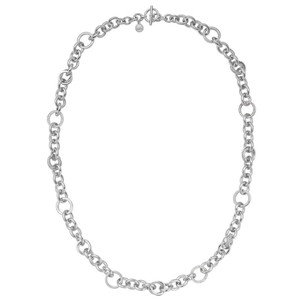Michael Kors NWT Brilliance SILVER-tone Chain Pave Necklace MKJ3458040