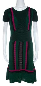 M Missoni short dress Green Textured Polyester on Tradesy