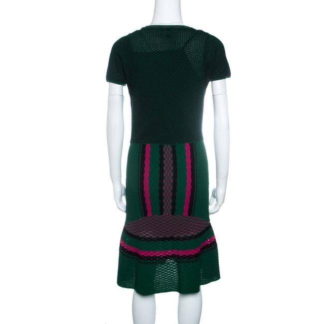M Missoni short dress Green Textured Polyester on Tradesy Image 1