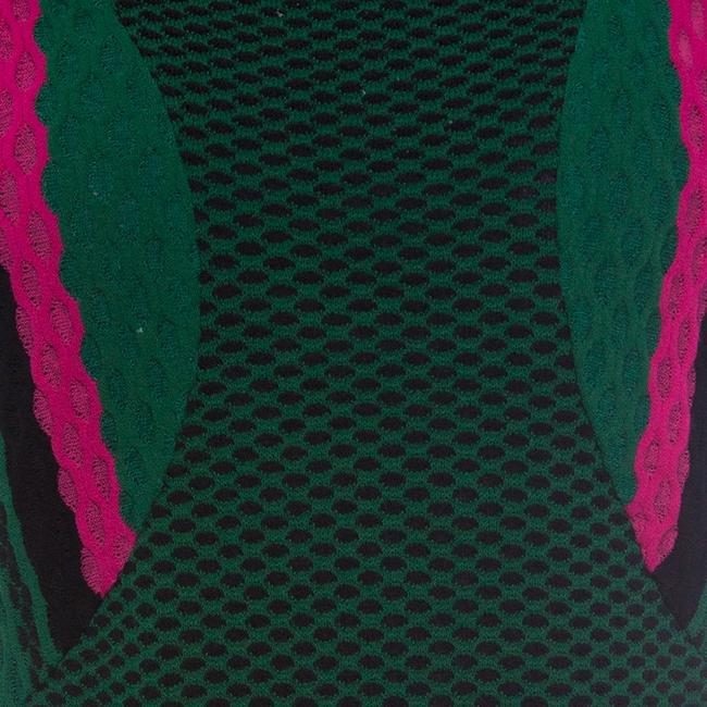 M Missoni short dress Green Textured Polyester on Tradesy Image 4