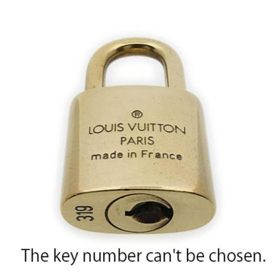 Louis Vuitton Gold Single Key Lock Pad Lock and Key 867780 Image 6
