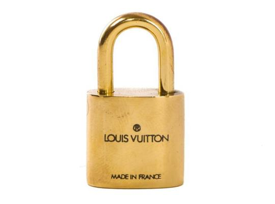 Louis Vuitton Gold Single Key Lock Pad Lock and Key 867780 Image 7