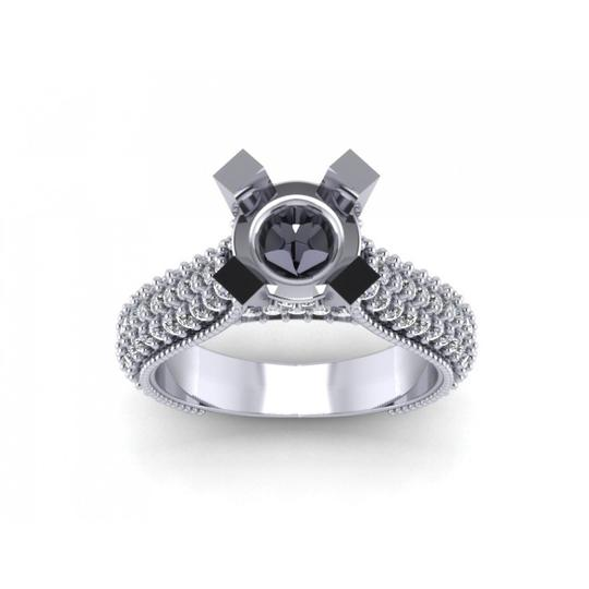 Preload https://img-static.tradesy.com/item/24037342/madina-jewelry-white-190-ct-ladies-round-cut-diamond-semi-mount-in-pave-setting-ring-0-0-540-540.jpg