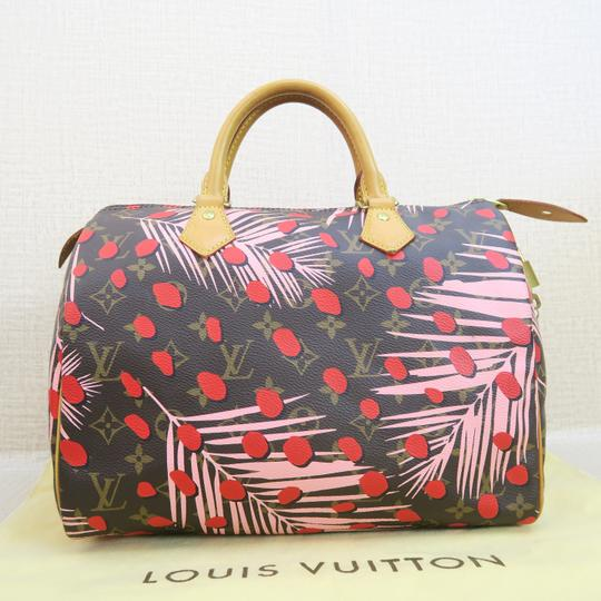 Louis Vuitton Canvas Brown-pink-red Speedy Tote in Brown & Pink & Red Image 1