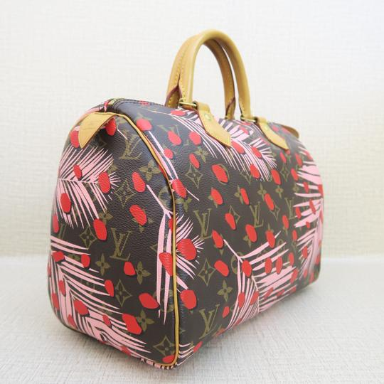 Louis Vuitton Canvas Brown-pink-red Speedy Tote in Brown & Pink & Red Image 3