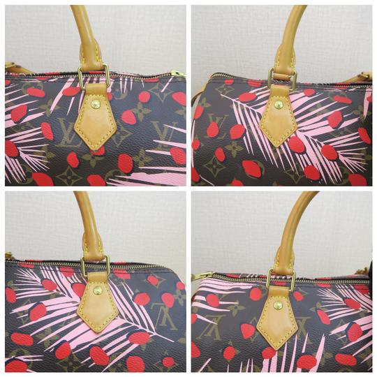 Louis Vuitton Canvas Brown-pink-red Speedy Tote in Brown & Pink & Red Image 7