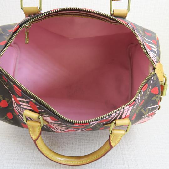 Louis Vuitton Canvas Brown-pink-red Speedy Tote in Brown & Pink & Red Image 8